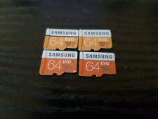 4 x 64GB Micro SDXC Memory cards Bulk job lot