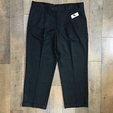NEW Mens VAN HEUSEN Dress Pants Charcoal Pleated Front Cuffed 42 x 30 NWT