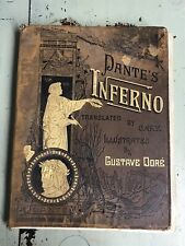 Vintage Dante's Inferno Illustrated By Gustave Dore Leather Rev. Cary