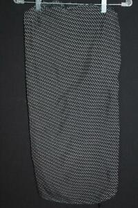 "VINTAGE FRENCH 1930'S-1940'S RAYON BLACK & WHITE PRINT FABRIC 30"" W X 3 YDS L"