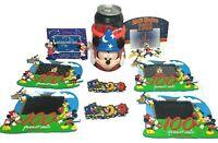 Vintage WALT DISNEY WORLD Theme Park Mickey Mouse Sorcerer Can Holder Magnet LOT