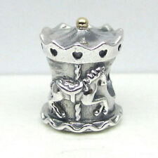 Authentic Pandora Sterling Silver & 14Kt Carousel Bead 791236 Retired