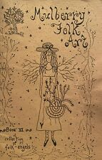 Mulberry Folk Art Stitchery Pattern Book - Collection of Folk Angels - NEW PRICE