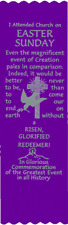 """Easter Sunday"" Easter Bible Bookmark Ribbons, pack of 10 (#6-676)"