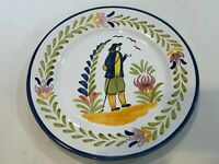 "VTG Sur La Table Handpainted Portugal Dinner Plate,  Standing Man, 10"" Dia"