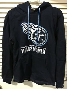 NFL Football Icer Fleece Mens Small Tennessee Titans Embroidered Pullover #497