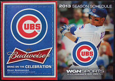 NEW 2013 CHICAGO CUBS BASEBALL POCKET SEASON SCHEDULE,WGN,Budweiser Beer,Rizzo