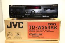 JVC TD-W254BK Double Kassettendeck Compu Link in Schwarz TOP Zustand mit OVP