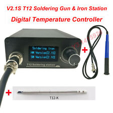 For V2.1S T12 Digital Temperature Controller Soldering Equipme Gun &Iron Station