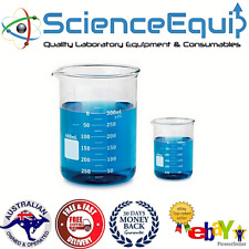 Glass BEAKER Graduated Low Form Research Grade Borosilicate, 6 sizes, 1/5/10 pcs