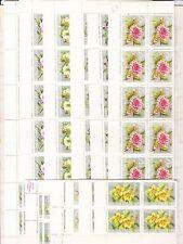 LOTTO AUSTRIA-N. 18 SERIE COMPLETA FIORI 1964-BLOCCO DA 10 E 2 QUAR-NUOVI  FR137