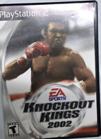 Knockout Kings 2002 PlayStation 2 PS2 Game Complete With Manual TESTED Z19