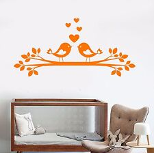 Vinyl Wall Decal Birds Love Tree Branch Children's Room Stickers (1100ig)