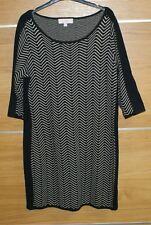 GHARANI STROK black stripy dress size XL