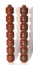 14 lego HEAD - reddish brown - pirates of caribbean (7) star wars (7)