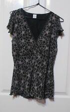 Ladies TargetFloral top size 14 cape sleeves