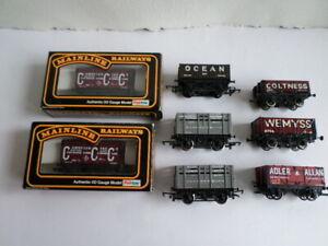 8 OO Gauge  wagons ( Mainline, Hornby etc)