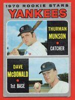 1970 Topps #189 Thurman Munson VG-VGEX CREASE ROOKIE RC New York Yankees