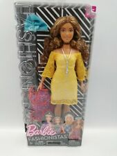 Barbie Fashionistas #85 Glam Boho Style Curvy Doll with Freckles #FJF70, New HTF