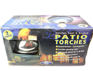 Rockford Tools 2 Pack of Stainless Steel Patio Torches New