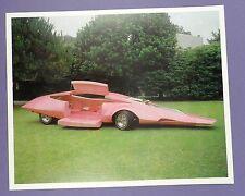 Pink Panther limusina Mostrar Coche-Original c1969 impresión/tarjeta de stock sin usar!!!