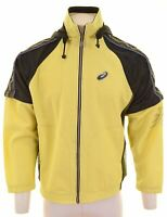 ASICS Mens Tracksuit Top Jacket Large Yellow Polyester  AP14