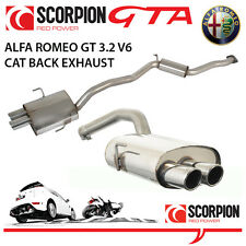 Alfa Romeo GT 3.2 V6 03-07 Scorpion Gato atrás Performance Exhaust De Acero Inoxidable