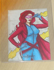 2013 5finity WOMEN of ZORRO sketch card 1/1 Andy Perez 25 total created