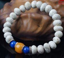 Tibetan Meditate Amber Lapis Star Moon Bodhi Seeds Mala Prayer Beads Bracelet