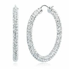 Silver Coloured Hoop Fashion Earrings
