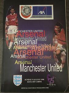 Arsenal V Manchester United Charity Shield 1998