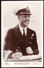 Postard Royalty RPPC HRH Prince of Wales Naval Uniform Navy Cap Royal Cigarette