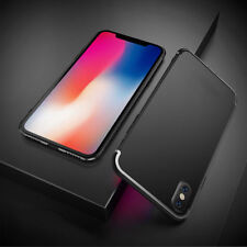 For Apple iPhone X (10) Shockproof Silicone Case Thin Slim TPU Cover Shell Black
