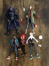 Marvel Legends Spiderverse Lot Peter Parker Prowler Miles Morales Gwen Stacy