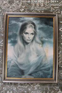 GIRL OF VALDARNO by VINCIATA - vintage art print framed joseph wallace king