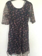 Atmosphere Women's Navy Net Floral Dress Size 12