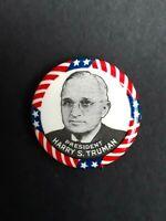 Vintage Harry S Truman President Campaign Pinback Badge