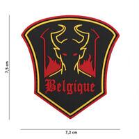 Morale patch 3D PVC  Devil Belgique airsoft , black ,  MC ,hoop and loop