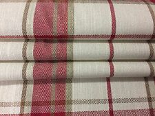Laura Ashley Highland check cranberry made to measure roman blinds 3634919