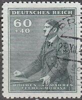 Stamp Germany Bohemia Czechoslovakia Mi 086 Sc B10 1942 WW2 Fascist Hitler Used