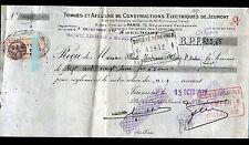 JEUMONT (59) FORGES & ATELIERS DE CONSTRUCTION ELECTRIQUES en 1928