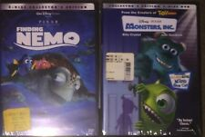 *New* Finding Nemo and Disney Monster's Inc Dvd - Free Shipping!
