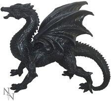 31cm Large Very Detailed Black Slate Coloured Dragon Ornament Sculpture D1242D5
