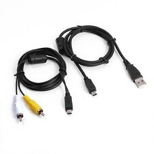 USB Data SYNC +AV A/V TV Video Cable Cord For Olympus Camera SP-800 uz SP-810 uz