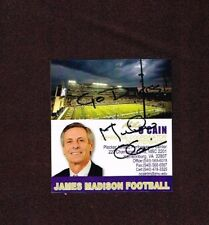 Mike O'Cain Signed Business Card James Madison Football Coach Autograph Auto