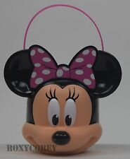 Easter Halloween Disney Minnie Mouse Figural Plastic Basket + 3 Treat Containers