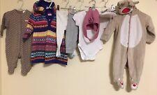 Conjunto de ropa de bebé niñas edad 3-6 meses Calvin Klein Mariposa < D1079