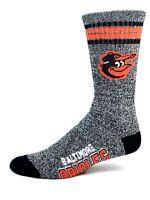 Baltimore Orioles Baseball 4 Stripe Got Marbled Gray Deuce Crew Socks