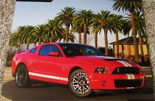 2011 Ford Shelby Mustang GT500 ht car print (red & white)