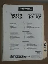 Rotel rx-503 technical service manual original repair book stereo receiver tuner